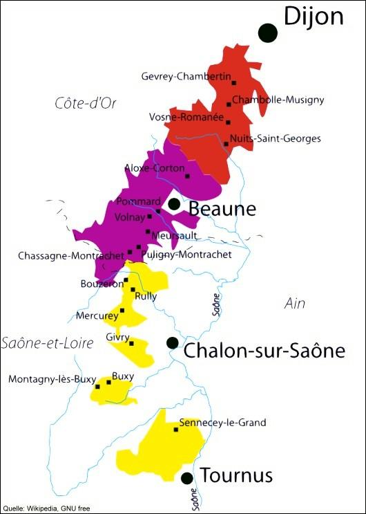 Weinregion Burgund Weinrouten De