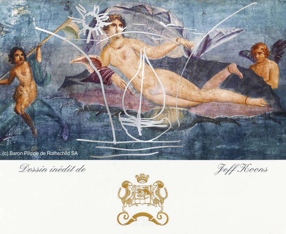 Jeff Koons Label for Mouton Rothschild 2010